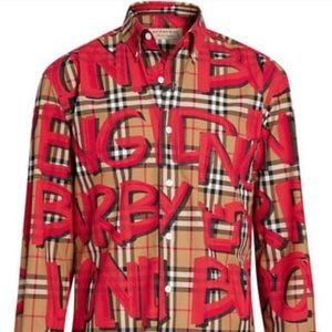 Sz M Authentic Burberry Casual Button Up Like New